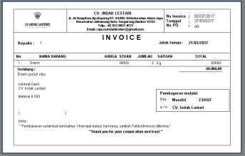 Cetak Invoice 1