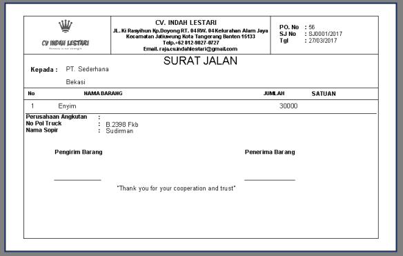 Aplikasi Cetak Invoice Dan Surat Jalan Mas Adi