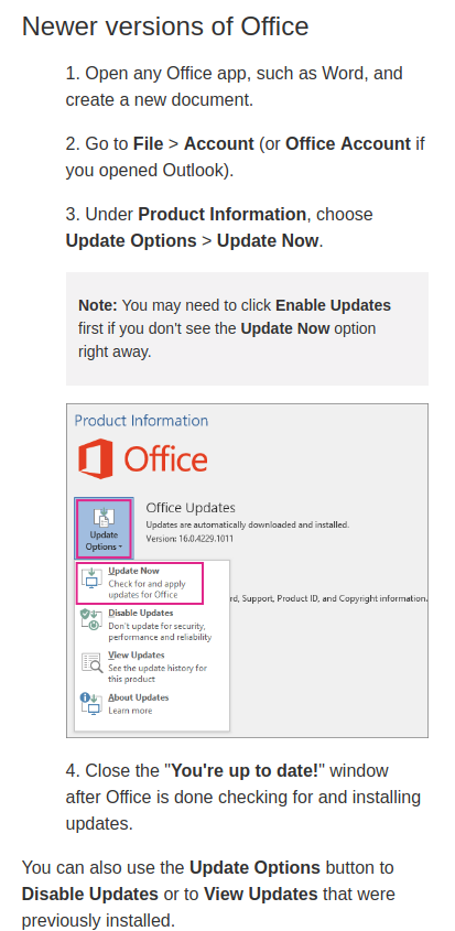 UpdateOffice365